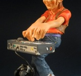 Rock keyboard player 21 cm