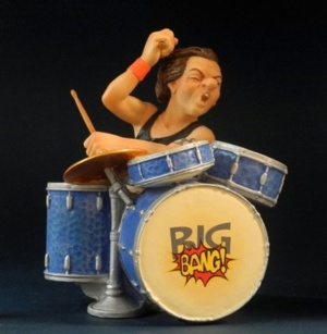 Rock drummer 18 cm